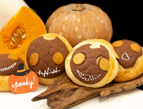 Spooky Pumpkin Polo Buns
